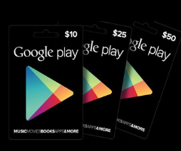 GOOGLE PLAY CARDS